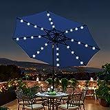 Blissun 9 ft Solar Umbrella 32 LED Lighted Patio