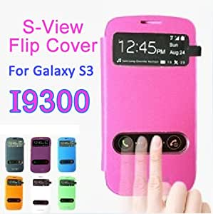 Hot Luxury Leather Case For Samsung Galaxy S3 SIII i9300 Phone Bag Cover Battery Housing Black White Pink Drop Ship --- Color:white