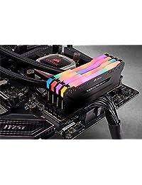 Corsair CMW64GX4M4C3200C16 Vengeance RGB PRO 64GB (4x16GB) DDR4 3200 (PC4-25600) C16 - Memoria para escritorio, color negro