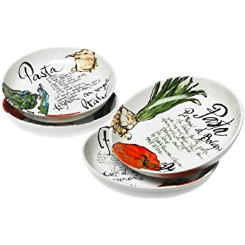 Rosanna Pasta Italiana Pasta Bowls Set of 4  sc 1 st  Amazon.com & Amazon.com: Rosanna Pasta Italiana Pasta Bowls Set of 4: Kitchen ...