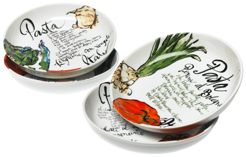 Rosanna Pasta Italiana Pasta Bowls Set of 4 ()
