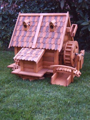 Wassermühle Wassermühlen wunderschön groß aus Holz im blockhausstil mit Holzschindeldach für Garten