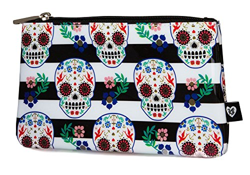 Loungefly Sugar Skull With Stripes Pencil Case