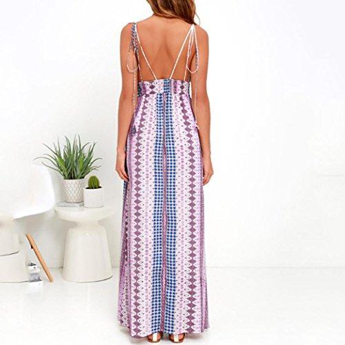 femme Casual plage Bohme elegante Femme soire robe JIANGfu robes cocktail t long maxi Multicolores AwqxF