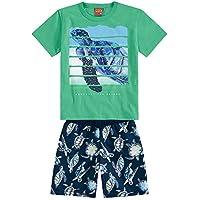 Conjunto Infantil Masculino Camiseta + Bermuda Kyly