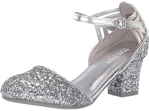 (Kenneth Cole REACTION Kids Girl's Sarah Shine (Little Kid/Big Kid) Silver Multi 11 M US Little Kid)