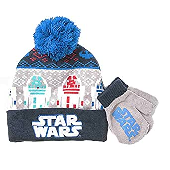 Amazon.com: Toddler Boys' Star Wars Hat and Mitten Set