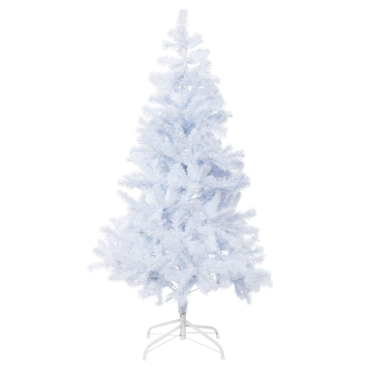 Bocca 5 FT Christmas Tree Atificial Premium Pine Full Tree with Metal Leg Indoor and Outdoor (White, 5FT)