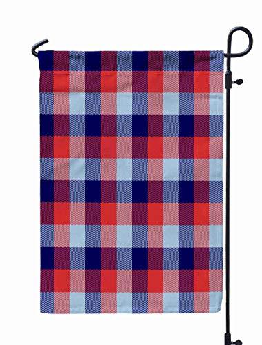 Shorping Welcome Garden Flag, 12x18Inch Lumberjack Red Navy