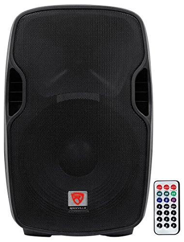 Rockville Professional Powered Active 800w DJ PA Speaker w Bluetooth, 15 inch (BPA15) (Best 15 Inch Powered Speakers)