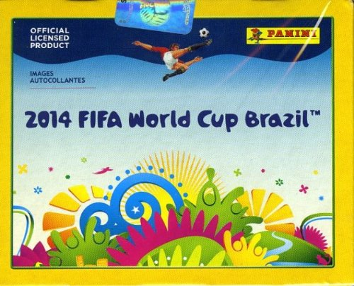 2014 Panini FIFA World Cup Brazil Factory Sealed HUGE 50 Pack Sticker Box with 350 Brand New MINT World Cup Stickers! - Factory Sealed Mint