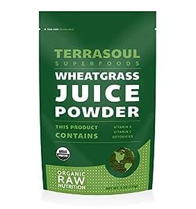 Terrasoul Superfoods Wheat Grass Juice Powder (Organic), 5 Ounce