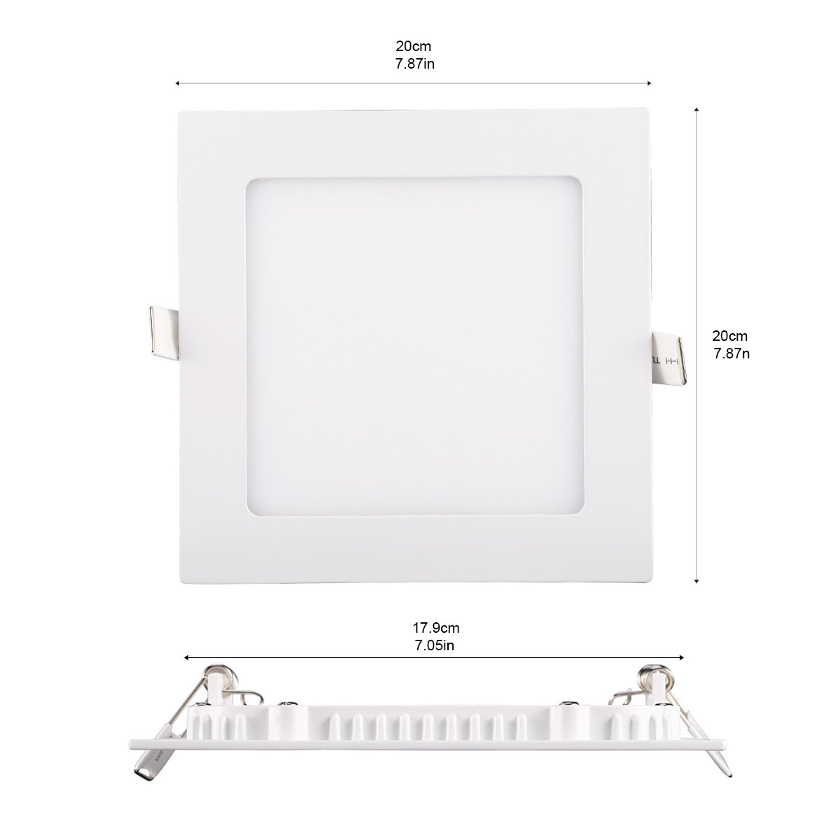 Amazon.com: b-right LED cuadrado empotrable PANEL de Luz ...