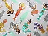 Magical Mermaids 100% Polyester (FLAT SHEET ONLY) Size TWIN Boys Girls Kids Bedding