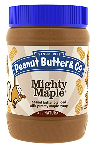 Peanut Butter & Co. Peanut Butter, Non-GMO, Gluten Free, Vegan, Mighty Maple, 16 Ounce Jars (Pack of 6)