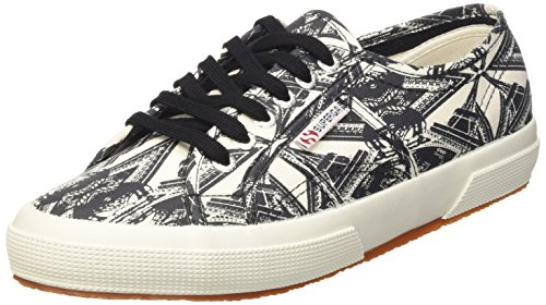 Superga 2750-fantasy Cotu, Pompes à Plateforme Plate Mixte Adulte Multicolore (Optical Paris)