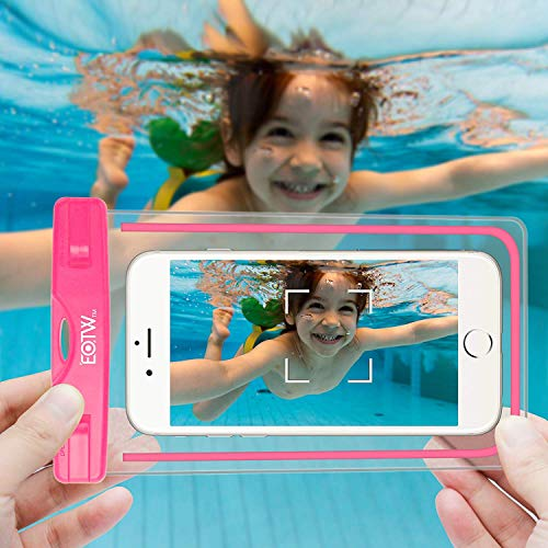 EOTW 2 Pack IPX8 Universal Waterproof Case for Smartphone Device to 6'' Fit iPhone X/8/8plus 7plus/6plus Samsung Galaxy s8/s8plus/s7 Google Pixel HTC10,for Water Parks/Beach/Cruise/Pools snorkeling by EOTW (Image #6)