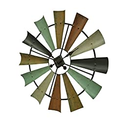 Special T Imports Multicolor Metal Windmill Clock (29)