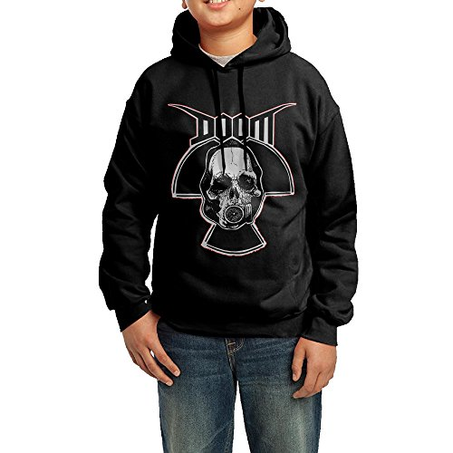 Price comparison product image BObiulo The Famous 3D Game Doom Logo Youth Hooded Sweatshirt