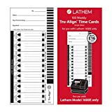 Lathem Weekly Tru-Align Time Cards, Single Sided for Use with Lathem 1600E Time Clock, 100 Pack (E16-100)