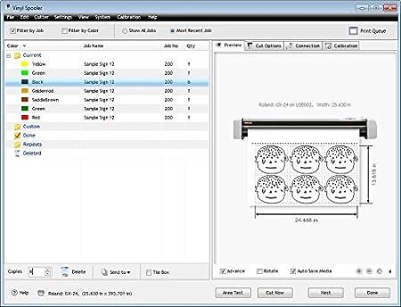 Software para vinilo cortador plotter adhesivo y calcomanías VinylMaster CUT: Amazon.es: Hogar