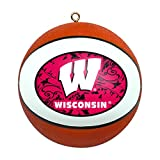 NCAA Wisconsin Badgers Replica Basketball Ornament