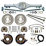 "NEW CURRIE X-BODY REAR END WITH FLANGED AXLES WITH CURRIE 11"" DISC BRAKE KIT,PARKING BRAKE CABLE KIT,HARDLINE KIT,COMPATIBLE WITH CHEVROLET II 1962-1967,NOVA,WITH MONO-LEAF SPRINGS"