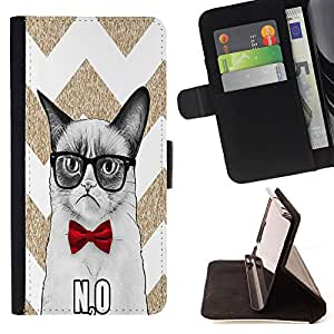 King Case - FOR Samsung Galaxy S3 MINI 8190 - The worst way - Prima caja de la PU billetera de cuero con ranuras para tarjetas, efectivo Compartimiento desmontable y correa para la mu?eca