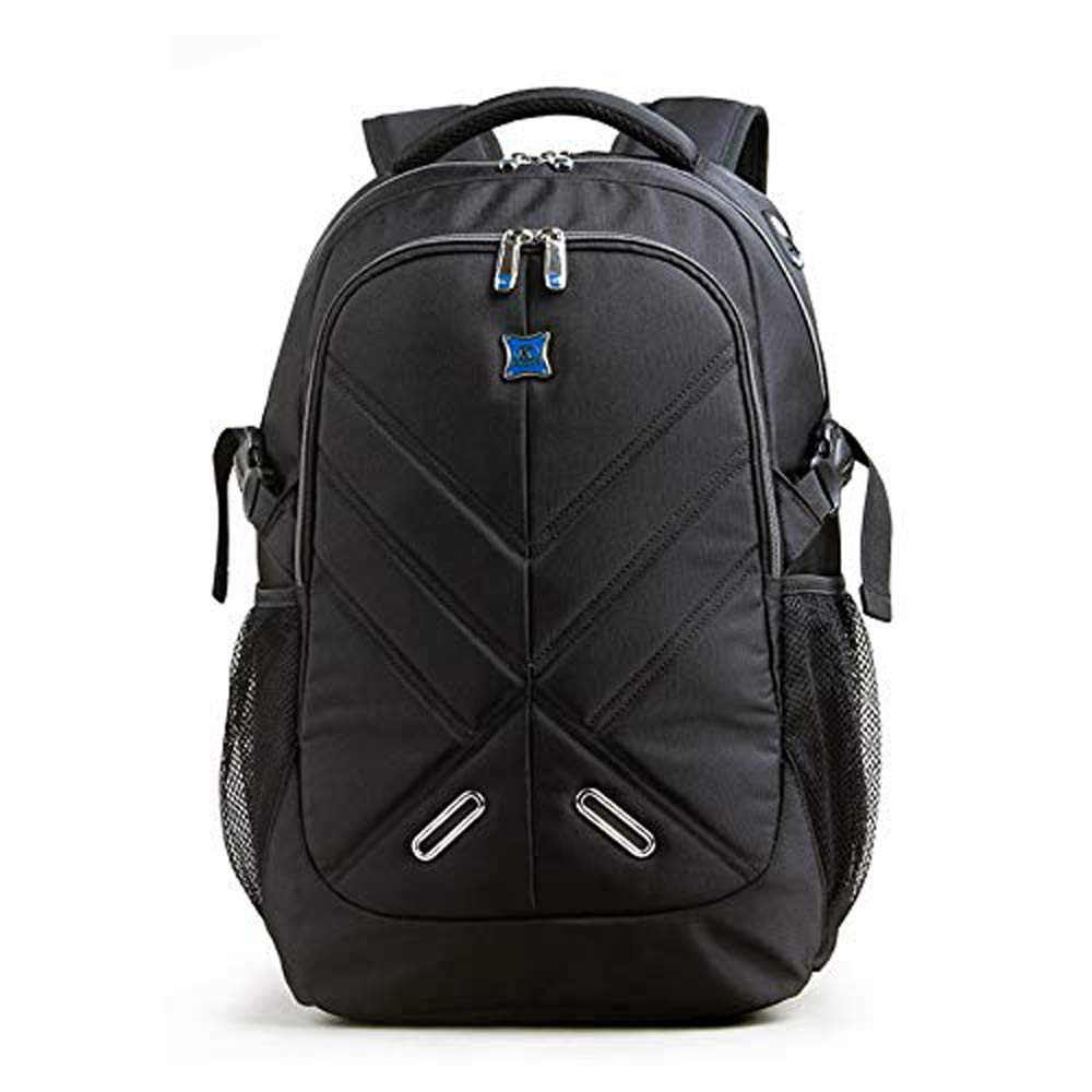 Backpack for Men and Women 15.6 Inches with Rain Cover Airbag Shockproof Laptops School Backpack Kingsons School Bag Travel Bag Bookbag Business Work Daypack Black