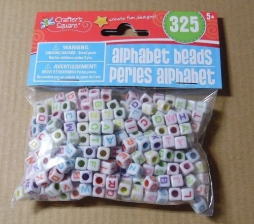 Crafter's Square Alphabet Beads, 325 Pieces