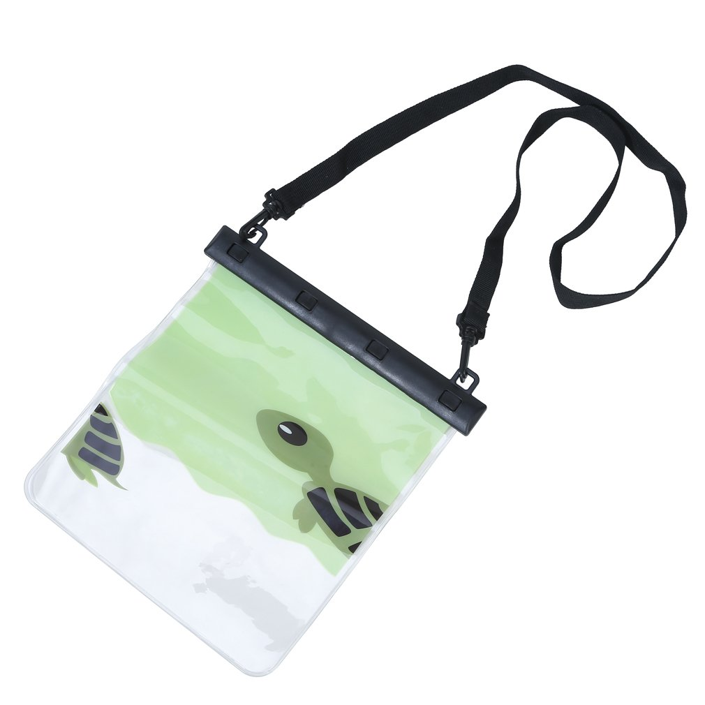 Sumerk Universal Waterproof PVC phone case, Cell Phone Dry Bag Pouch with Clear Sensitive PVC Touch Screen and Large size for 2 phones and daily accessories - Green
