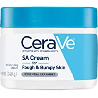 CeraVe SA Cream, 12 Ounce, Renewing Salicylic Acid Body Cream for Rough and Bumpy Skin, Fragrance Free