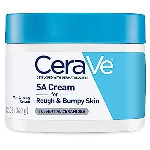 CeraVe SA Cream | 12 Ounce | Renewing Salicylic Acid Body Cream for Rough and Bumpy Skin | Fragrance Free
