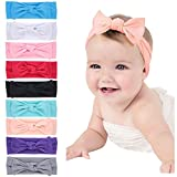 Mookiraer Baby Girl Newest Round Dot Turban Headband Head Wrap Knotted Hair Band (bw889)