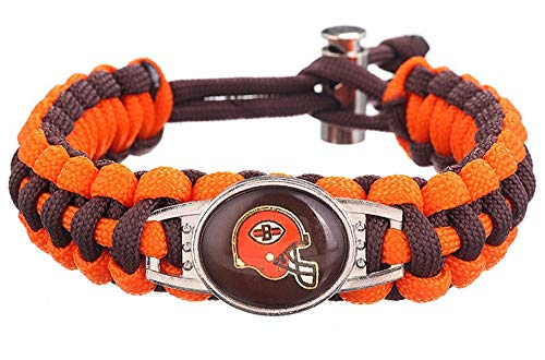 Swamp Fox Cleveland Browns Adjustable Paracord Bracelet 7