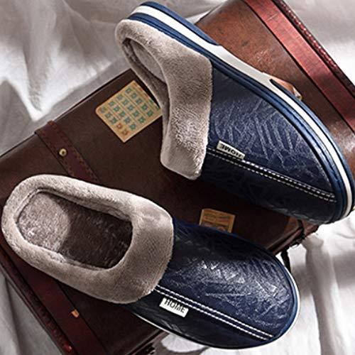Casa Pantofole Calde In Impermeabile Coppia Peluche Rosso Piattaforma Di Rosa Marino pantofole X Caldo Marrone nero Pu Blu love Inverno Femmina Trascinamento Cotone g6qwWEFa
