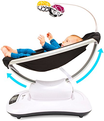 4moms mamaRoo 4 Bluetooth-Enabled high-tech Baby Swing – Classic Nylon Fabric with 5 Unique motions by 4moms (Image #4)