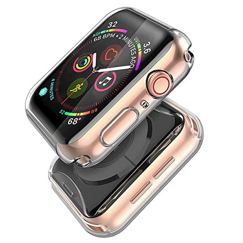 Misxi Compatible with Apple Watch Series 4 Screen Protector 40mm, 2018 New iwatch Cover TPU Overall Protection 0.3mm Ultra-Thin Case for Apple Watch Series 4 40mm (2-Pack)