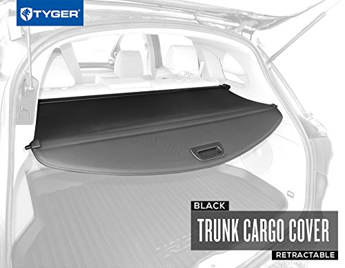 Tyger Black Retractable SUV Rear Trunk Cargo Cover Shield Fits 12-15 Acura RDX (with Power Lift Gate ONLY) (Rdx Acura)