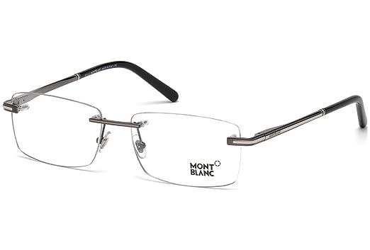 2fe63ecde06 Eyeglasses Montblanc MB 577 MB0577 008 shiny gumetal at Amazon Men s ...