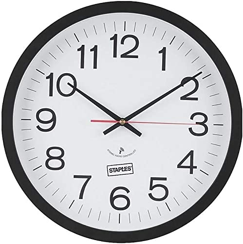 STAPLES 812291 14-Inch Round Atomic Wall Clock 18383