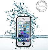 Bessmate trade; 2 Meters Underwater Waterproof Dirtproof Snowproof Shockproof Skin Hard Phone Shell with Rugged Protection Case for Apple iPhone 5c (White)