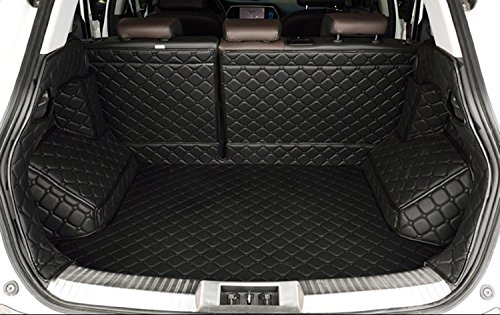 Auto mall Waterproof Custom Fit Full Covered Trunk Mats Cargo Liners for Subaru Outback Before 2015 (Black)
