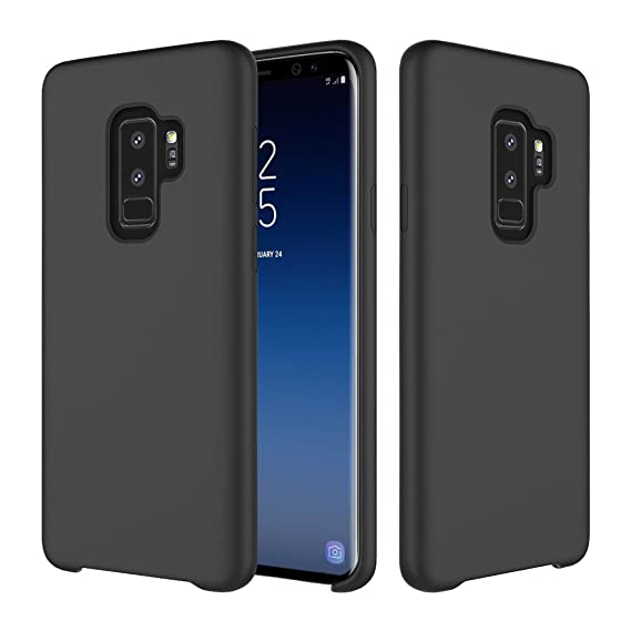 new concept 3dd6f d33f4 YCFlying Compatible Galaxy S9 Plus Case, S9 Plus Silicone Case Cover Liquid  Silicone Gel Rubber Case with Soft Microfiber Cloth Lining Cushion for ...