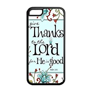 Diycase 4s cell phone case covers, Bible Verse Psalm 118:1 iS0EOJbmY4sI Hard TPU Rubber Cover case cover for iPhone 4s