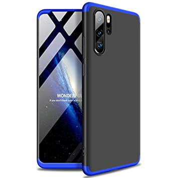 Funda Huawei p30 Pro, DYGG Compatible con Carcasa Protección de 360 Grados Case Cover Caso para Huawei p30 Pro+ Protector de Pantalla-Negro Azul