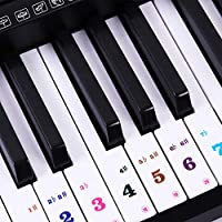 Piano Stickers For Keys 88/61 Keyboards Removable...
