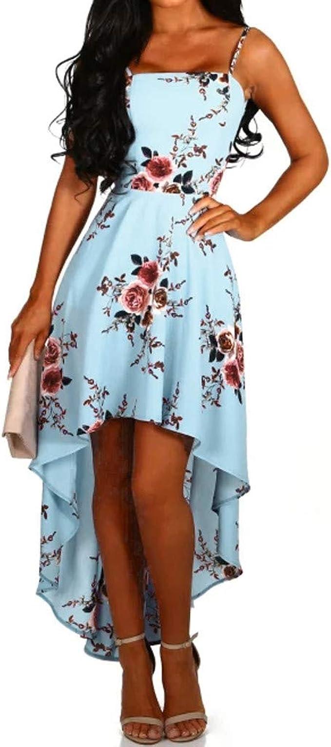 TOPUNDER Women Deep V Neck Sleeveless Dress Camisole Irregularity Buttock Dress