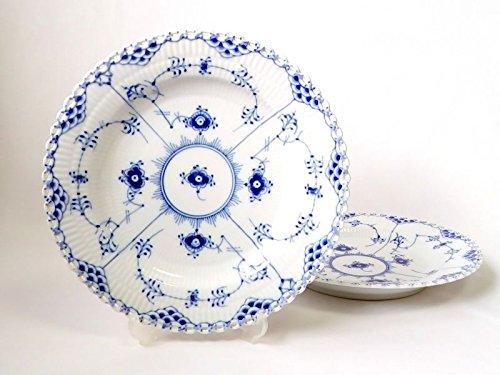 ロイヤルコペンハーゲン プレート■ブルーフルーテッド フルレース ディナープレート 大皿 2枚セット 1級品 1 B07DHD92RF