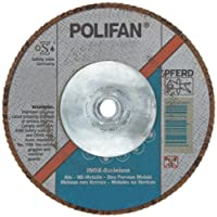 PFERD Polifan SG CO-COOL Abrasive Flap Disc, Type 29, Threaded Hole, Phenolic Resin Backing, Aluminum Oxide